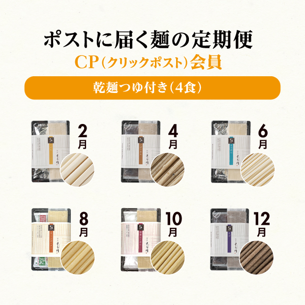CP会員申込 乾麺つゆ付きの商品イメージ