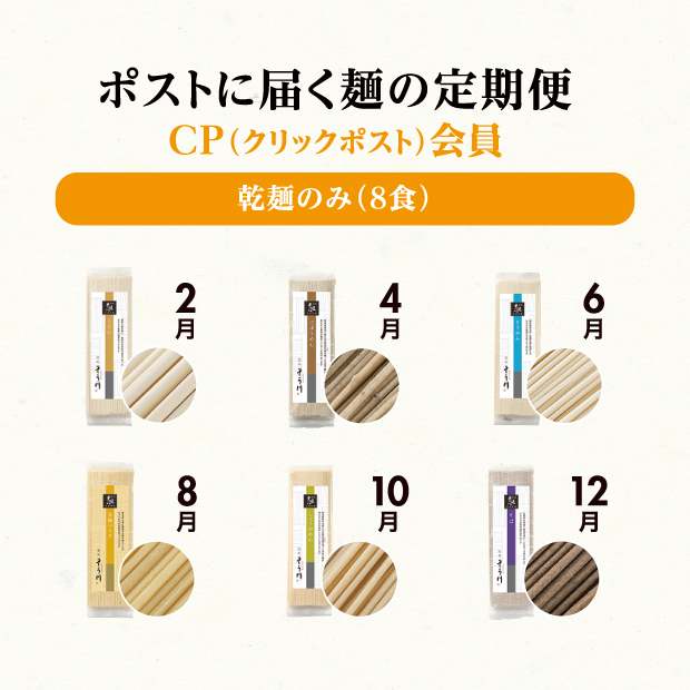 CP会員申込 乾麺のみの商品イメージ