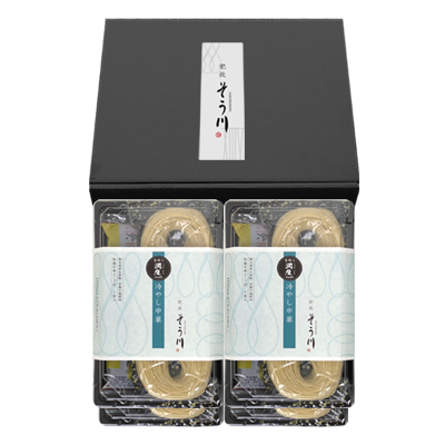 潤生麺 冷やし中華セット 4パック(つゆ付き/8食入)の商品イメージ